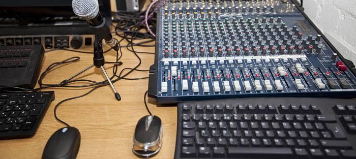 Music production on desktop
